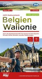 BELGIA WALONIA mapa rowerowa 1:150 000 ADFC 2021