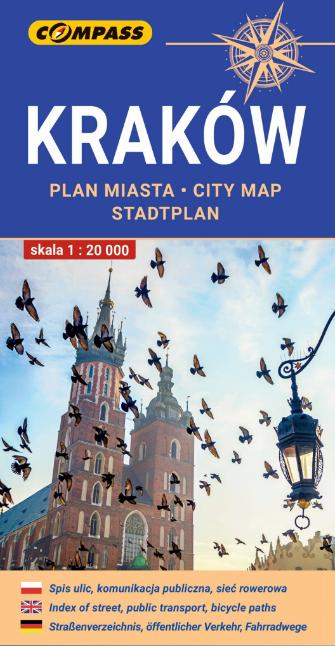KRAKÓW plan miasta 1:20 000 COMPASS 2021 (1)