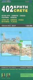 LEFKA ORI - SAMARIA mapa wodoodporna 1:50 000 NAKAS ROAD CARTOGRAPHY