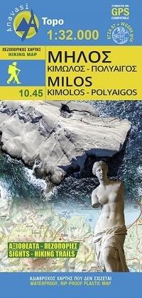 MILOS - Kimolos - Polyaigos mapa wodoodporna 1:32 000 ANAVASI 2020