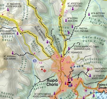 MILOS - Kimolos - Polyaigos mapa wodoodporna 1:32 000 ANAVASI 2020 (2)