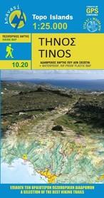 TINOS 10.20 mapa turystyczna 1:25 000 ANAVASI 2020
