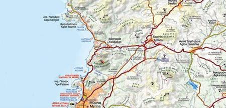 LEMNOS mapa turystyczna 1:60 000 ANAVASI 2020 (2)