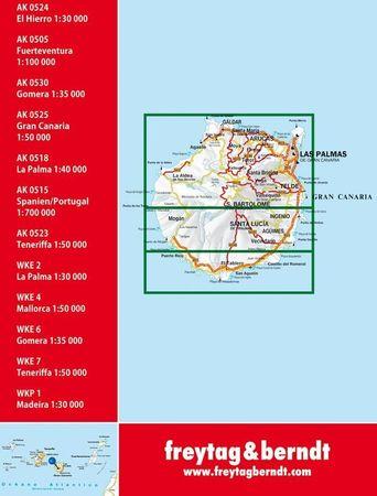GRAN CANARIA mapa turystyczna 1:50 000 FREYTAG&BERNDT (3)