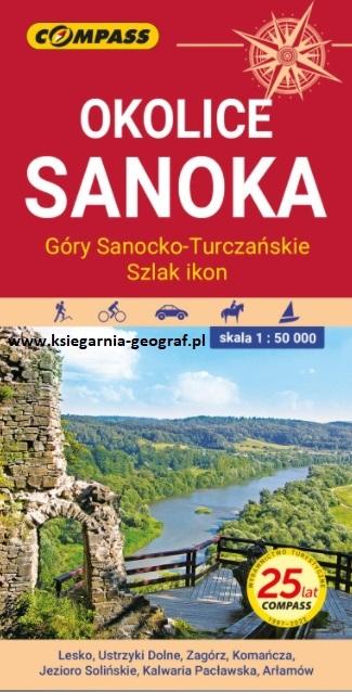OKOLICE SANOKA mapa laminowana 1:50 000 COMPASS 2021 (1)