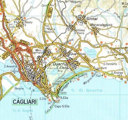 SARDYNIA mapa wodoodporna 1:200 000 TOURING EDITORE 2020 (2)