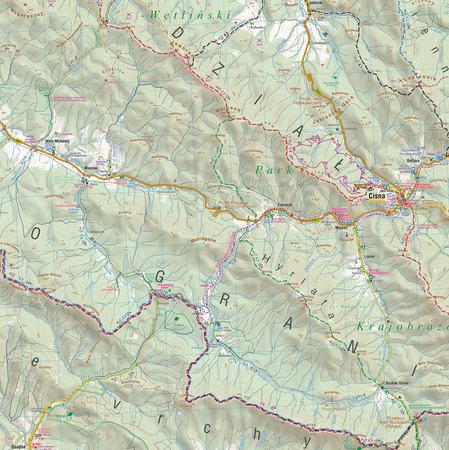 BIESZCZADY mapa syntetyczna 1:50 000 COMPASS 2021 (4)
