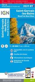 St-Gervais-Les-Bains / Massif du Mont Blanc 3531ETR mapa wodoodporna 1:25 000 IGN