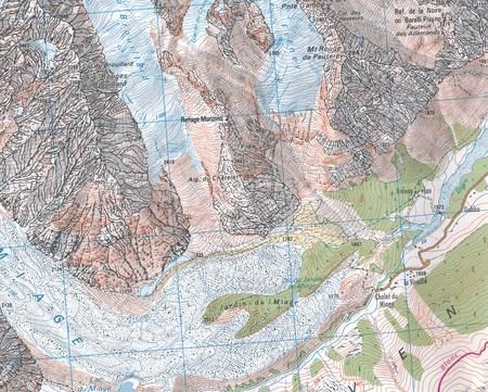 St-Gervais-Les-Bains / Massif du Mont Blanc 3531ETR mapa wodoodporna 1:25 000 IGN (5)