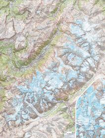 MONT BLANC laminowana mapa ścienna 1:25 000 IGN