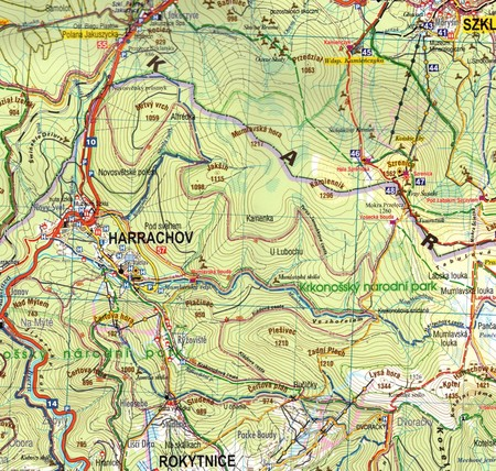 KARKONOSZE I GÓRY IZERSKIE mapa laminowana 1:50 000 PLAN 2021 (2)