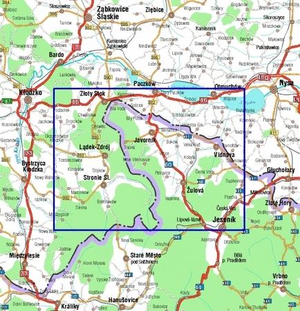 GÓRY ZŁOTE GÓRY RYCHLEBSKIE mapa wodoodporna 1:40 000 STUDIO PLAN 2021 (3)