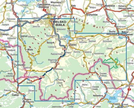 BESKID ŚLĄSKI I ŻYWIECKI mapa laminowana COMPASS 2021 (2)