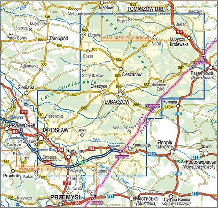 ROZTOCZE WSCHODNIE mapa turystyczna 1:50 000 COMPASS 2021 (2)