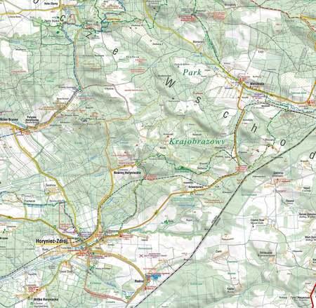 ROZTOCZE WSCHODNIE mapa laminowana 1:50 000 COMPASS 2021 (3)