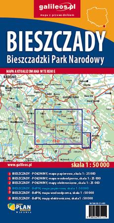BIESZCZADY Bieszczadzki PN mapa 1:50 000 STUDIO PLAN 2021 (3)