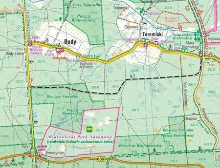 PUSZCZA BIAŁOWIESKA I OKOLICE mapa laminowana 1:50 000 COMPASS 2021 (2)