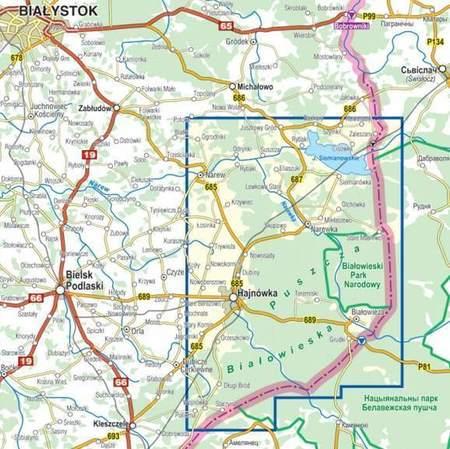 PUSZCZA BIAŁOWIESKA I OKOLICE mapa laminowana 1:50 000 COMPASS 2021 (3)