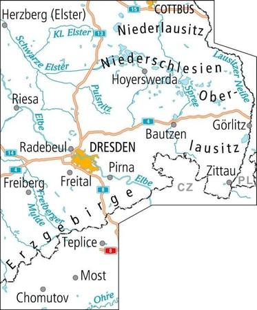 ŁUŻYCE I RUDAWY WSCH. mapa turystyczno - rowerowa ADFC (2)