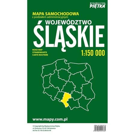 WOJEWÓDZTWO ŚLĄSKIE mapa 1:150 000 PIĘTKA (2)