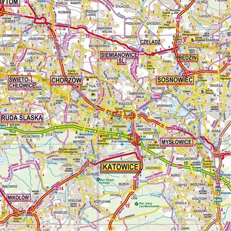 WOJEWÓDZTWO ŚLĄSKIE mapa 1:150 000 PIĘTKA (5)