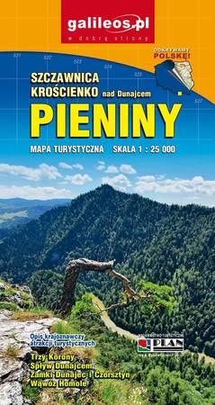 PIENINY SZCZAWNICA KROŚCIENKO mapa turystyczna 1:25 000 STUDIO PLAN 2021 (1)