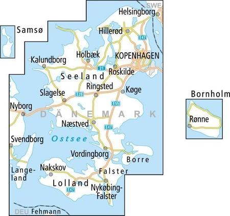 KOPENHAGA ZELANDIA BORNHOLM mapa rowerowa 1:150 000 ADFC 2020 (3)