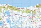 KOPENHAGA ZELANDIA BORNHOLM mapa rowerowa 1:150 000 ADFC 2020 (2)