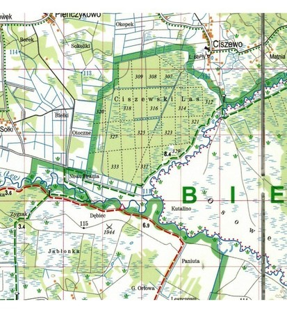 BIEBRZAŃSKI PARK NARODOWY mapa laminowana EXPRESSMAP 2021 (2)