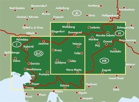 SŁOWENIA mapa samochodowa 1:150 000 FREYTAG & BERNDT 2020 (3)