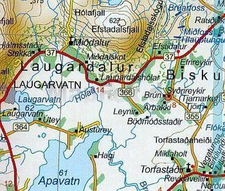 ISLANDIA atlas samochodowy 1:200 000 FERDAKORT 2021 (3)