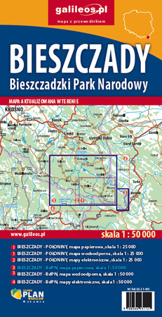 BIESZCZADY Bieszczadzki PN mapa syntetyczna 1:50 000 STUDIO PLAN 2021 (3)