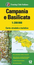 KAMPANIA BASILICATA mapa 1:200 000 TOURING EDITORE 2021