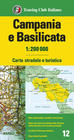 KAMPANIA BASILICATA mapa 1:200 000 TOURING EDITORE 2021 (1)