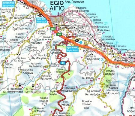 PELOPONEZ mapa samochodowa 1:150 000 FREYTAG & BERNDT (3)