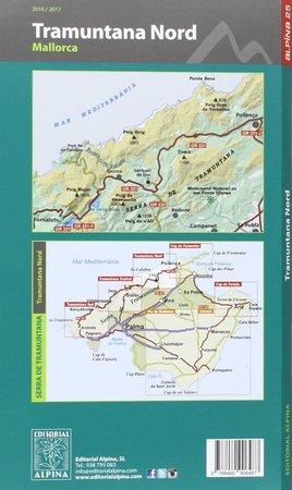 MALLORCA TRAMUNTANA Północ GR11 mapa z przewodnikiem 1:25 000 ALPINA (2)