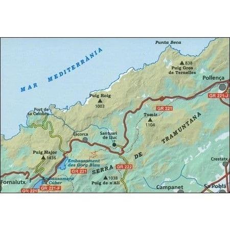 MALLORCA TRAMUNTANA Północ GR11 mapa z przewodnikiem 1:25 000 ALPINA (4)