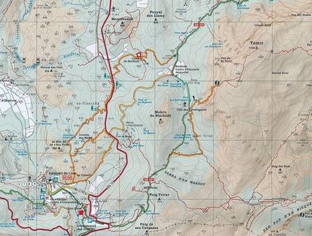 MALLORCA TRAMUNTANA Centralne GR11 mapa z przewodnikiem 1:25 000 ALPINA (4)
