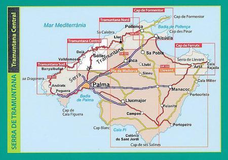 MALLORCA TRAMUNTANA Centralne GR11 mapa z przewodnikiem 1:25 000 ALPINA (3)