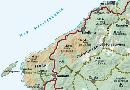 MALLORCA TRAMUNTANA Południe G11 mapa z przewodnikiem 1:25 000 ALPINA (3)