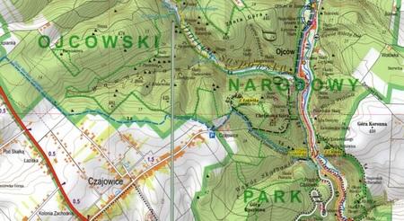 OJCOWSKI PARK NARODOWY mapa laminowana 1:25 000 EXPRESSMAP 2021 (2)