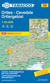 008 ORTLES - CEVADALE - ORTLERGEBIET mapa turystyczna 1:25 000 TABACCO 2020