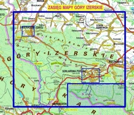 GÓRY IZERSKIE IZERY mapa laminowana 1:25 000 PLAN 2021 (2)