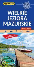 WIELKIE JEZIORA MAZURSKIE mapa turystyczna laminowana COMPASS 2021