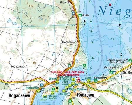 WIELKIE JEZIORA MAZURSKIE mapa turystyczna laminowana COMPASS 2021 (5)