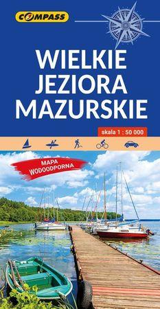 WIELKIE JEZIORA MAZURSKIE mapa turystyczna laminowana COMPASS 2021 (1)