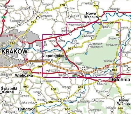 PUSZCZA NIEPOŁOMICKA NIEPOŁOMICE mapa 1:35 000 COMPASS 2021 (2)