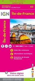 ILE-DE-FRANCE mapa 1:200 000 IGN 2020
