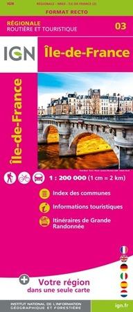 ILE-DE-FRANCE mapa 1:200 000 IGN 2020 (1)