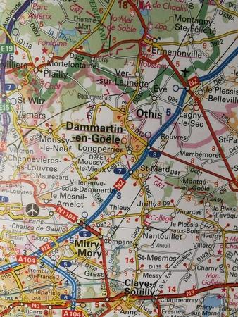 ILE-DE-FRANCE mapa 1:200 000 IGN 2020 (4)
